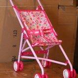 Коляска-Трость MELOGO для кукол, металл, двойные колеса