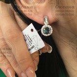 Срібні сережки, серебряные сережки,мистик топаз, серебряные украшения