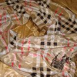 шарф шаль платок Burberry полиэстер 51Х147 Louis Vuitton Burberry Gucci косынка