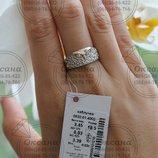 Срібне колечко сова, серебряное кольцо, срібло з напаяними пластинками золота