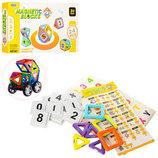 Детский магнитный конструктор Магнитные блоки 24 Дет Детский игровой набор Конструктор 3D Транспорт