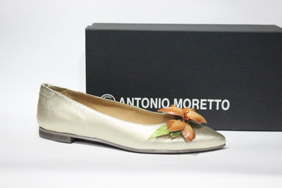 Шикарні шкіряні туфлі-балетки Antonio Moretto, Італія-Оригінал