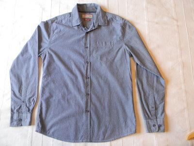 Муж.джинсовая полосатая рубашка TU р.S