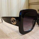Стильные очки Gucci чёрные в наличии фото в живую