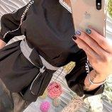 Блуза кофточка под пояс из котона SALE