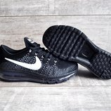 Подростковые кроссовки сетка Nike Air Max черные