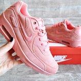 Кроссовки женские Nike Air Max pink замш