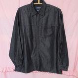 Стильная рубашка расцветкой под черный джинс armando размер l 50