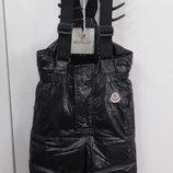 Полукомбинезон утепленные брюки штаны Монклер MONCLER Оригинал Италия пуховик 92 разм.