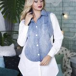 Джинсовая рубашка 44,46,48 размеры