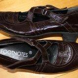 38 разм. Фирменные туфли Footnotes. Кожа
