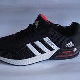 Мужские кроссовки Adidas Galaxy 41-45р сетка черные с белым