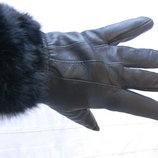 Перчатки женские,кожа 100% р.XL