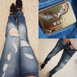 Женские стильные джинсы Бойфренд 4610 WOOX .