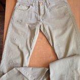 Стильные джинсы песочного цвета, на высокий рост бренд ltb jeans