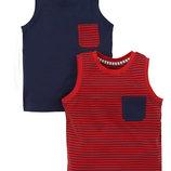 Червона та темно-синя майки Mothercare- 2 шт 3-4, 4-5, 5-6