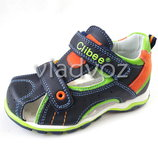 Босоножки сандалии для мальчика кожа 26-31р. Clibee синие 3160