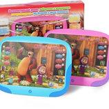 Планшет детский Маша и Медведь 3D, сказки, песни, обучение, повторюшка.