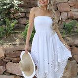 Платье летнее белое Indiano 2018 серия Fresh Cotton в наличии