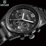 Мужские Классические наручные часы Megir M-2010 / Гарантия 12 месяцев / Чоловічий годинник