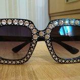 Женские очки со стразами