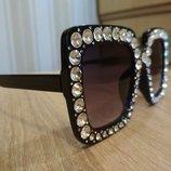 стильные очки со стразами нш 06