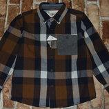 новая мальчику рубашка хб 4 - 5 лет Сток большой выбор одежды 1-16лет