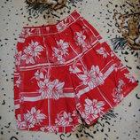 Яркие пляжные шорты гавайки 12-15 лет