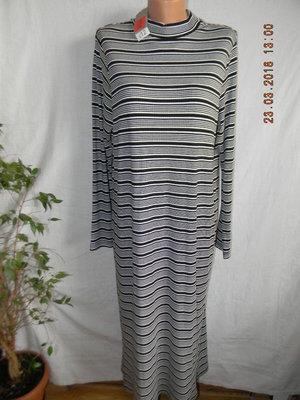 Трикотажное платье в полоску george