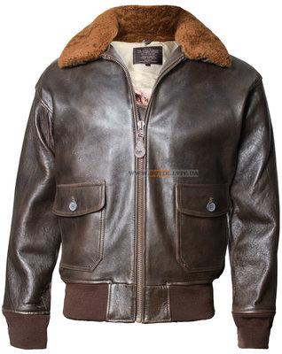 Кожаная куртка Offical Top Gun Military G-1 Jacket коричневая