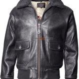 Шкіряна куртка Offical Top Gun Military G-1 Jacket чорна