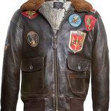 Кожаная куртка Top Gun Offical Signature Series Jacket коричневая