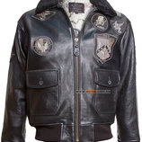 Кожаная куртка Top Gun Offical Signature Series Jacket черная