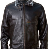 Кожаная куртка Top Gun Leather Jacket with Bonded Fur