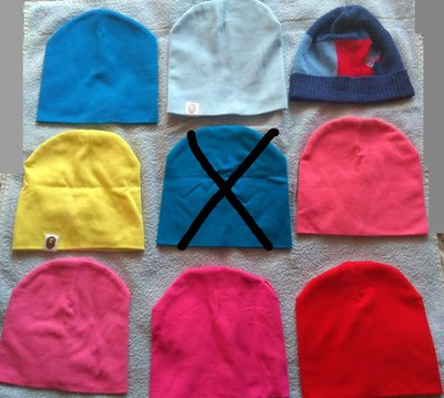 Весенние шапки, бу, р.4-6 лет