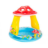 Детский бассейн грибок с надувным дном и навесом Intex 57114 размер 102х89см