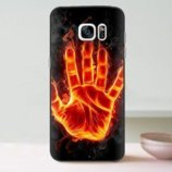 Чехол-Накладка TPU Image Fire hand для Samsung Galaxy S7 Edge/G935