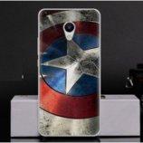 Чехол-Накладка TPU Image Captain America для Meizu M5s
