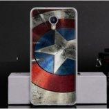 Чехол-Накладка TPU Image Captain America для Meizu M5 Note