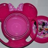 тарелка непроливайка Minnie&Daisy Disney и чашка поильник baby king sesam street 150 мл оригинал