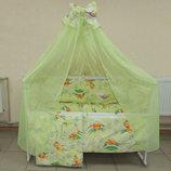 Набор-Кроватка Ящик, постель разные цвета, матрас, держатель