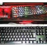 Игровая клавиатура KEYBOARD KR-6300 с подсветкой