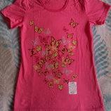 Женская футболка с бабочками принт 44р