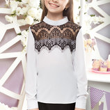 SALE Блуза школьная на рост 122, 128 см, арт.ML-005/SH-51-G