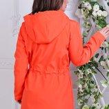 Ветровка ткань- плащовка, подкладка цвета- оранж, сирень, серый, розовый