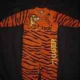 5-6 лет, флисовая пижама слип на молнии