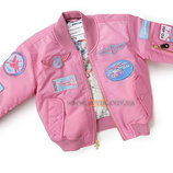 Детская летная куртка Boeing Pink Nylon Flight Jacket