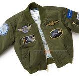 Детская летная куртка Boeing Green Nylon Flight Jacket оливковая