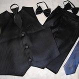 Принаряднейший комплект жилет- брюки рост 110-140