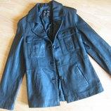 Пиджак кожанный, куртка, натуральная кожа
